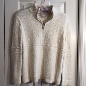 Christopher & banks size M cream colored sweater